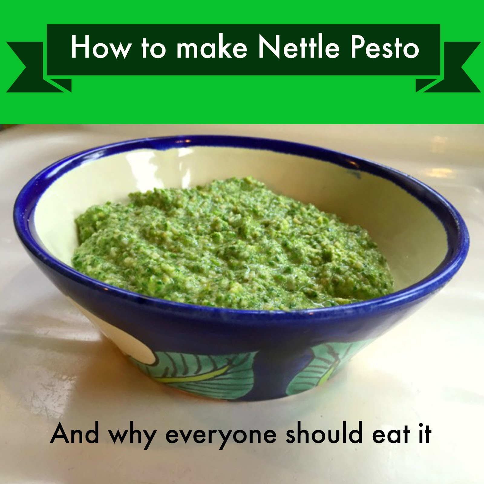 How to make nettle pesto