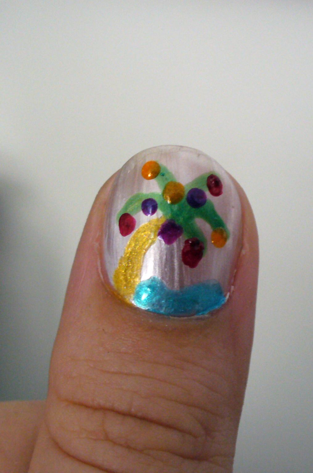 Tropical Christmas Nail Art With Diy Nail Dot Art Tool A