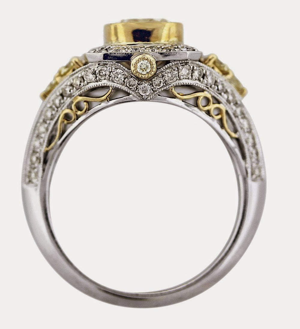 Luxury Wedding Rings Settings Without Center Stone Design