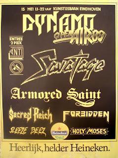 """Η αφίσα του """"Live at Dynamo Open Air"""" το 1989"""