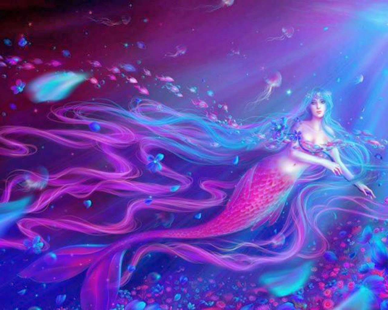 I Love Myself Quotes Wallpapers Most Beautiful Mermaid Girl Pictures Fantasy Graphics