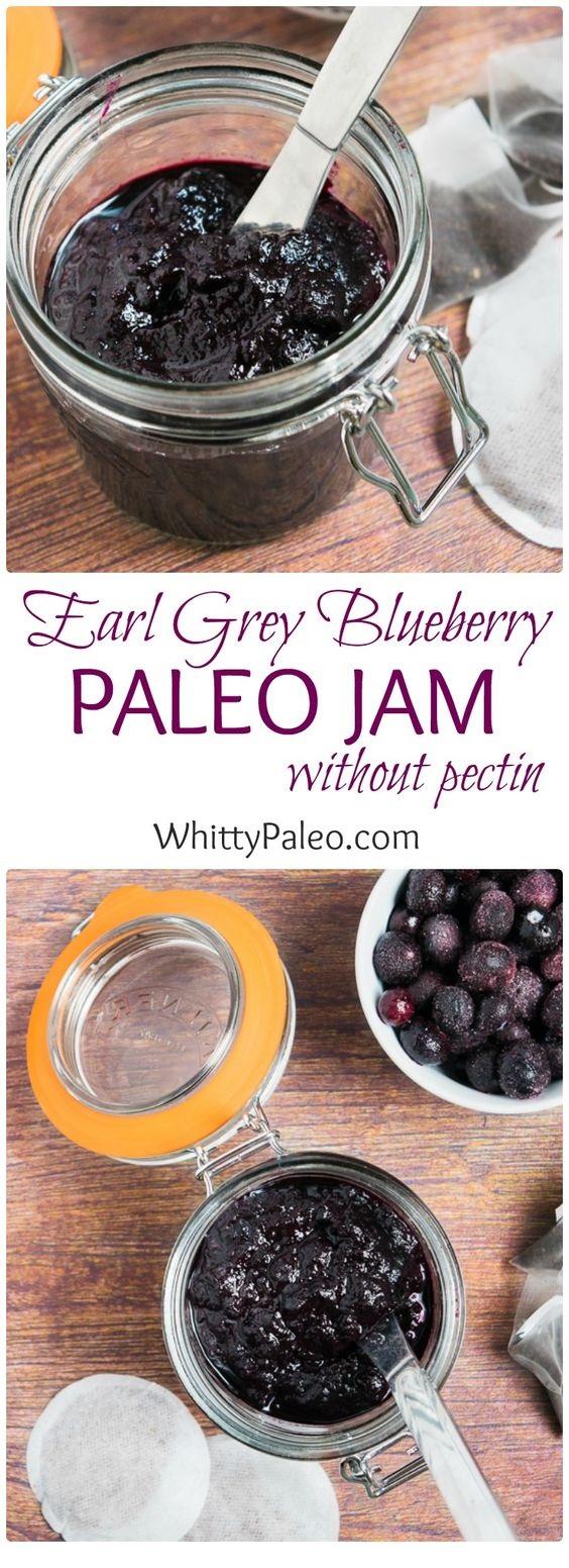 Homemade Earl Grey Blueberry Paleo Jam