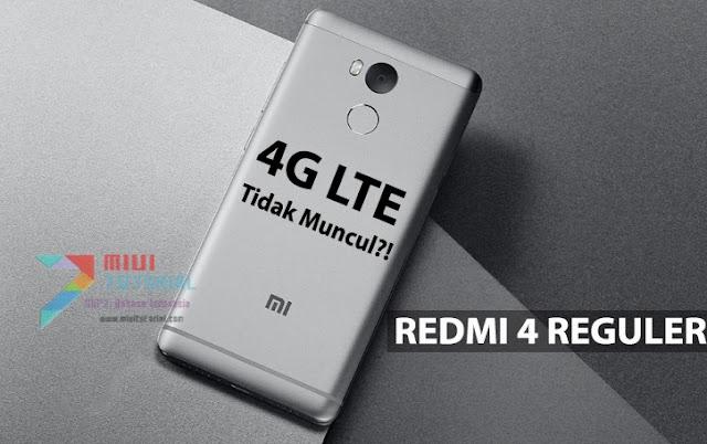 Sinyal 4G LTE Xiaomi Redmi 4 Reguler Tak Kunjung Muncul Sekalipun di Rom Miui China Stable? Ini Tutorial Cara Memperbaikinya