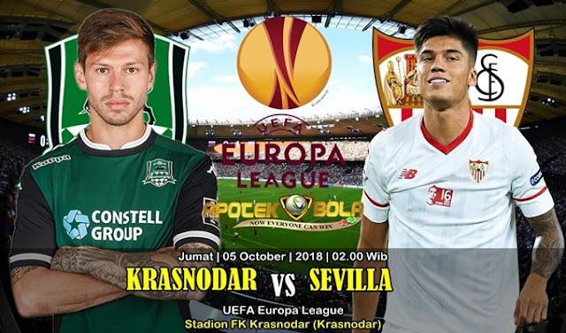 Prediksi Krasnodar VS Sevilla 5 Oktober 2018