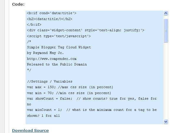 How to create a scroll box containing code in blogger ~ codemakit