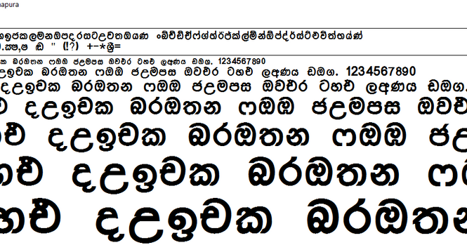 Sinhala Fonts free download thibus