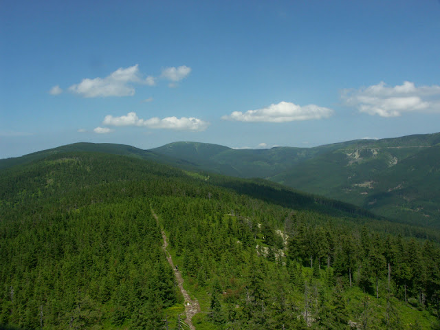 Pohoří Králického Sněžníku z rozhledny na Klepáči