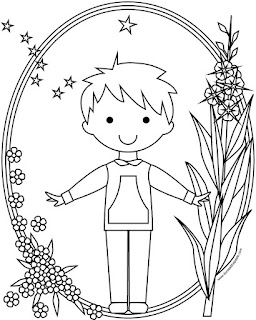 shortie boy's style qaspeq or kuspuk to print and color- available in jpg and transparent png formats