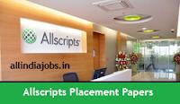 Allscripts Placement Papers