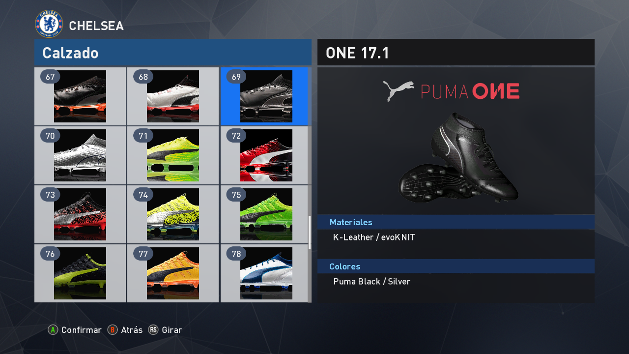 PES 2017 Updated boots assignments for bootpack v5 of Tisera09