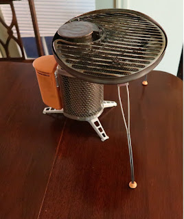 From BioLite: the wood stove and grill attachment