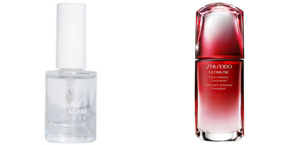 TAG BEAUTÉ - top coat biguine VS ultimune Shiseido - DeuxAimes