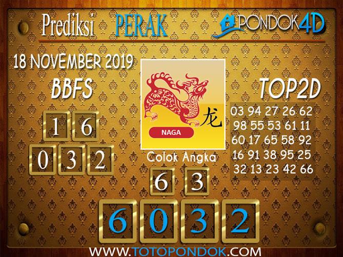 Prediksi Togel PERAK PONDOK4D 18 NOVEMBER 2019