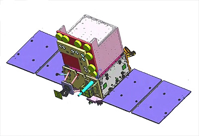 Image Attribute: EMISAT based on ISRO's Indian Mini Satellite-2 (IMS-2) bus platform. The satellite is intended for electromagnetic spectrum measurement. / Source: ISRO