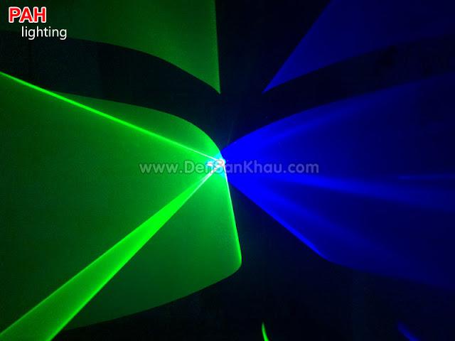 Hiệu ứng Blue Green đèn tia laser Bicolor