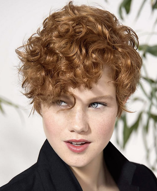 Curly short hair for ladies