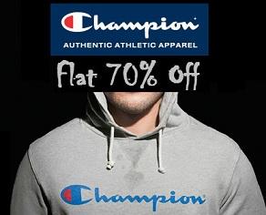 Champion Men's Clothing – Flat 70% Off @ Amazon