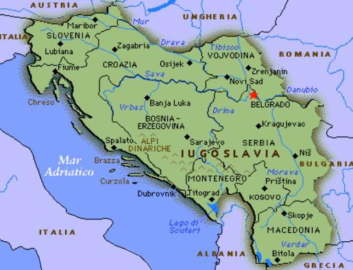 Cartina Geografica Ex Jugoslavia.Lacrime Di Borghetti Socijalisticka Federativna Republika