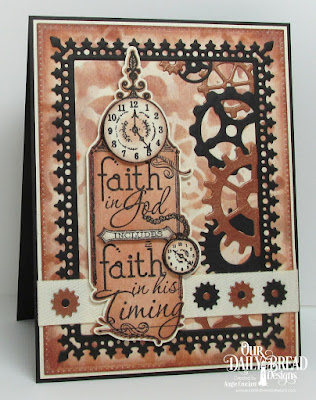 ODBD His Timing, ODBD Custom Steampunk Gears, ODBD Custom Pierced Rectangles Dies, ODBD Custom Lavish Layers Dies, Card Designer Angie Crockett