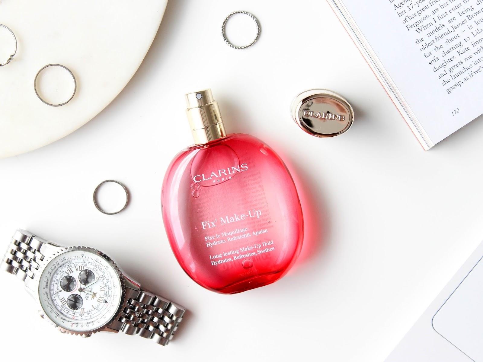 blog nákupy pr balíčky clarins fixační sprej