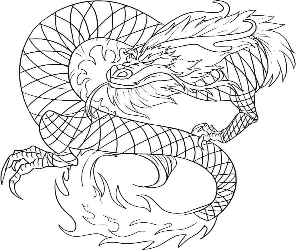 realistic dragon coloring pages for adults free printable chinese dragon coloring pages for kids - Dragon Coloring Books
