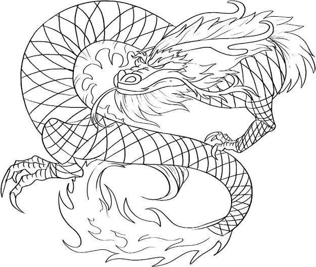 Realistic Dragon Coloring Pages For Adults Free Printable Chinese Kids