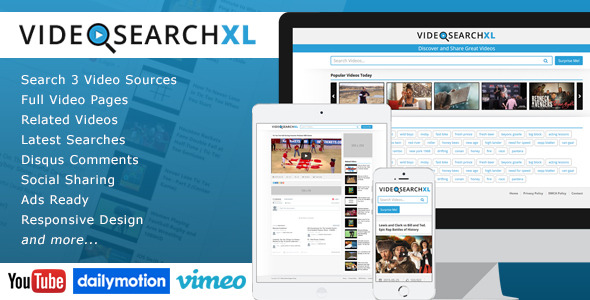 VideoSearchXL v1.2 - Multi Source Video Search Engine - Codecanyon