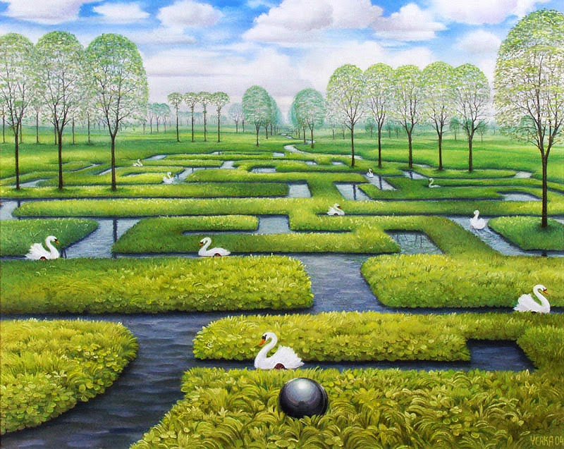 O Labirinto da Primavera - Jacek Yerka e seu surrealismo fantástico ~ Polonês