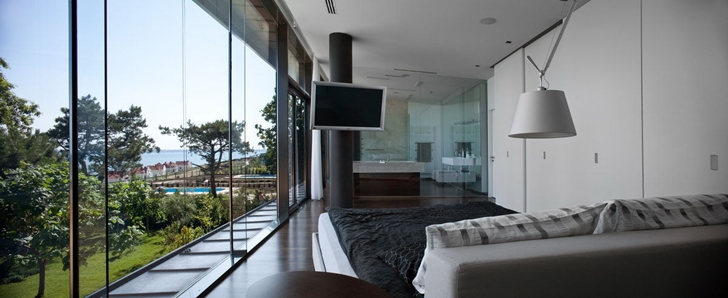 Bedroom of Contemporary house in Ukraine by Drozdov & Partners
