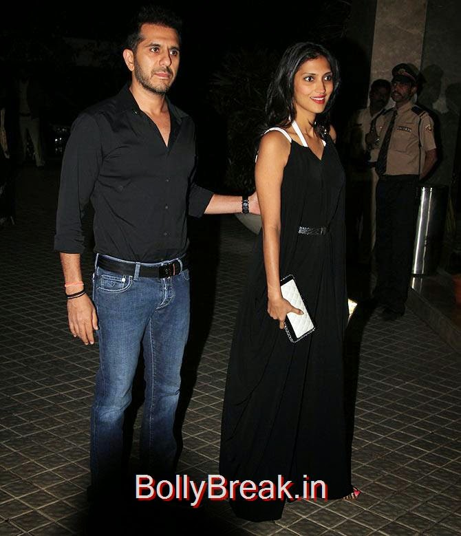 Ritesh Sidhwani with his wife, Bollywood Celebrities At Farah Khan's GRAND 50th Birthday Party
