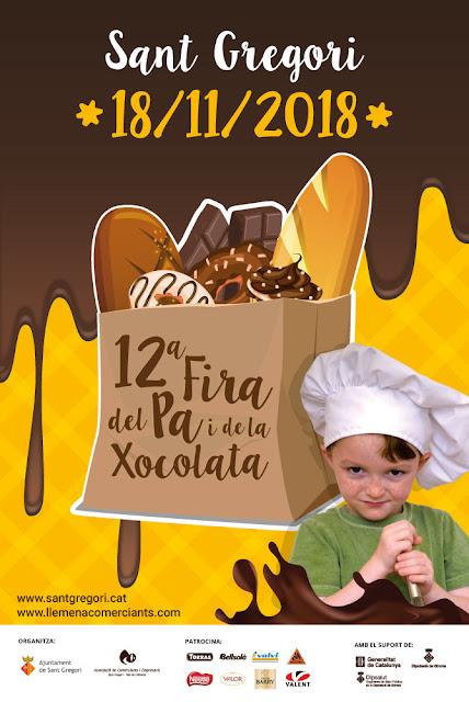 [#AgendaVadeTeca] Fira del pa i la Xocolata de Sant Gregori