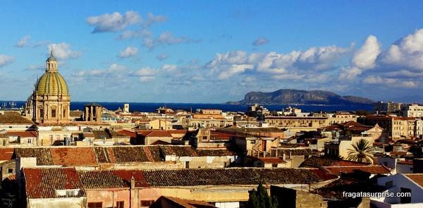 Palermo, capital da Sicília, vista do alto