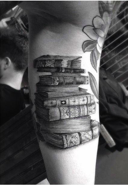 Half Sleeve Book Tattoos