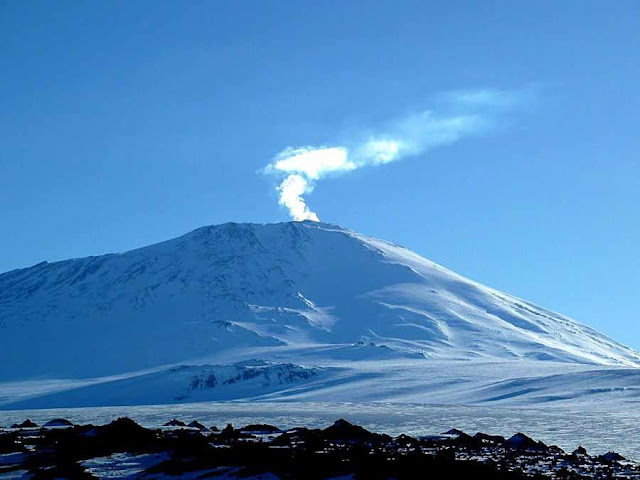 Estratovulcao Monte Erebus: 3.800 metros