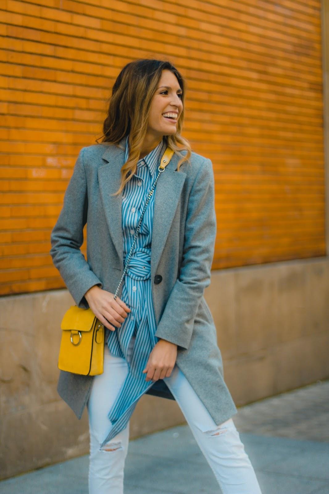 bolso bandolera amarillo
