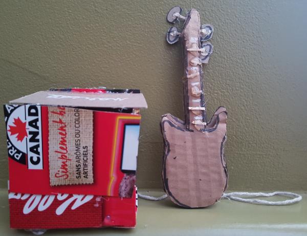 cardboard guitar | DevotedQuilter.blogspot.com