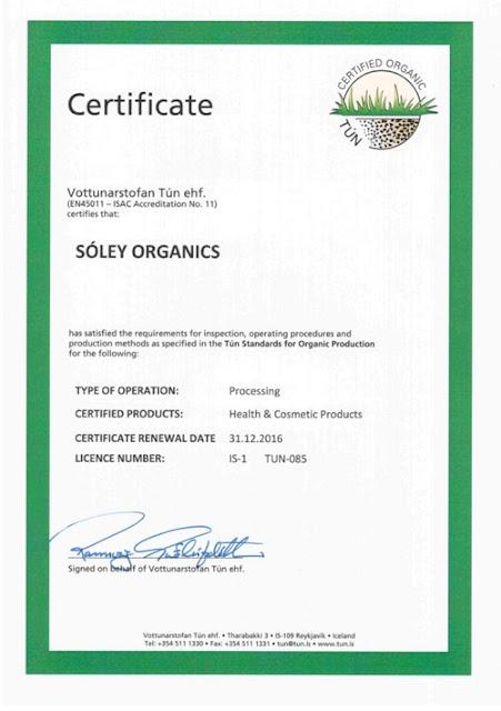 Soley Organics 保養品