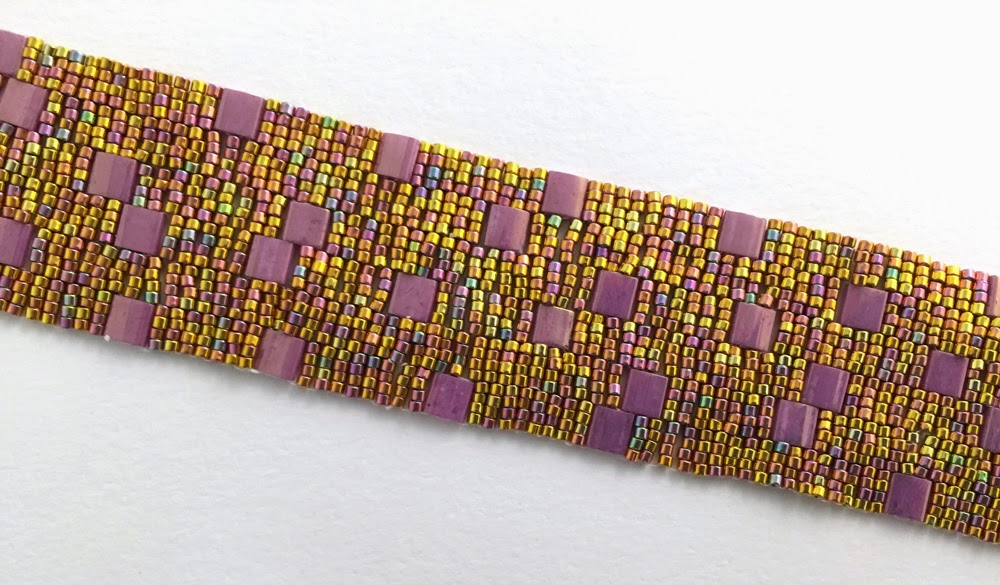 Patchwork bracelet by Jennifer Brown, photography by Karen Williams