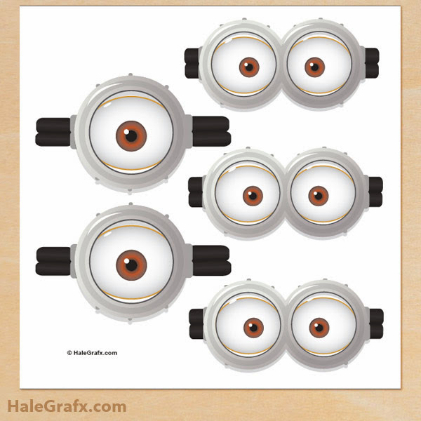 photograph regarding Minion Printable Eyes identified as Minions Googles, Totally free Printables. - Oh My Fiesta! inside of english