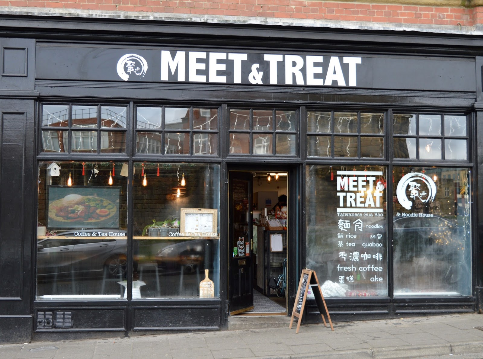 Meet and Treat Newcastle Cafe | A Perfect Spot for Pre-Theatre Drinks & Cakes with Kids for Tyne Theatre and Opera House - exterior and location