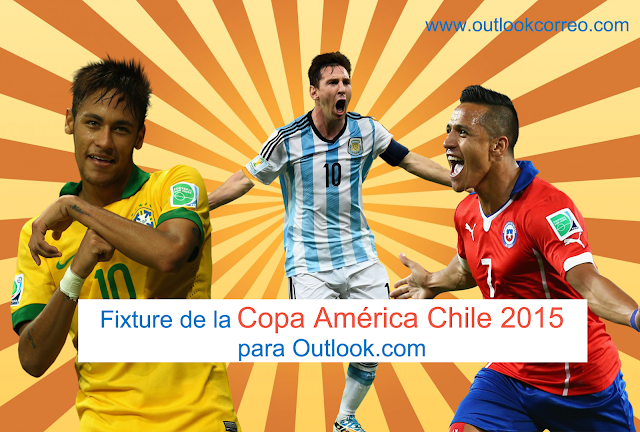 Agrega el fixture de la Copa América Chile 2015 a Outlook.com