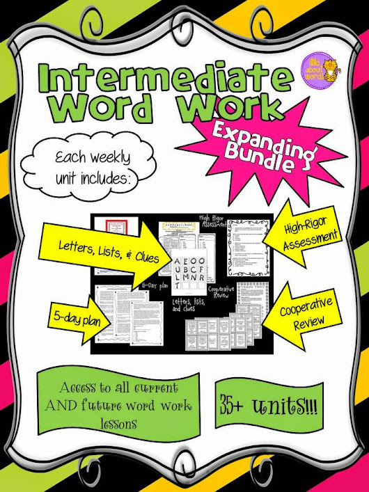 Intermediate Word Work Expanding Bundle....It's a STEAL during the TPT Sale!