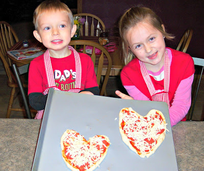 valentine tradtions, heart shaped pizza