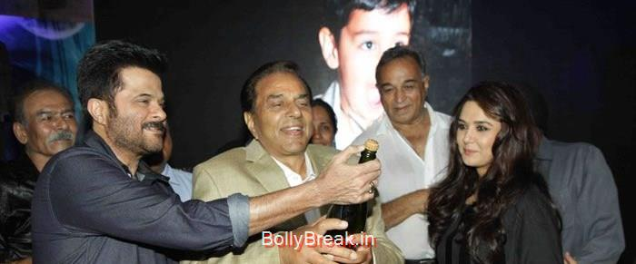 Anil Kapoor, Dharmendra, Preity Zinta, Hot HD Images of Priety Zinta at Aakash Dingra's 7th Birthday Bash