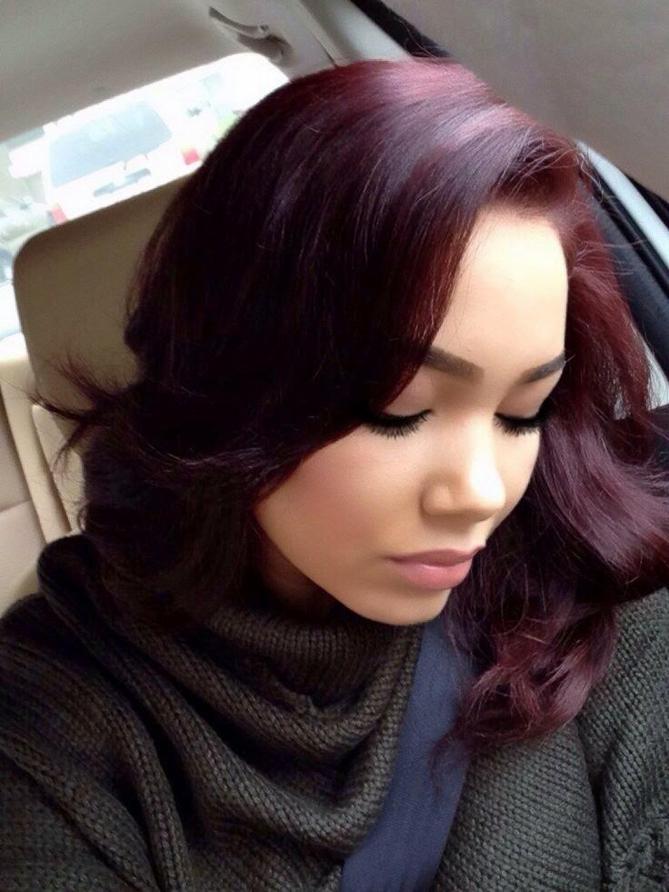 5 Burgundy Hair Color Highlights for 2017