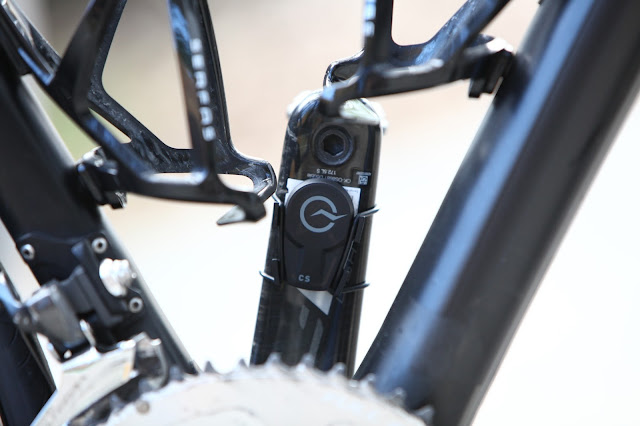 Power Tap Speed/Cadence Sensor Installed On Bicycle Crank Arm