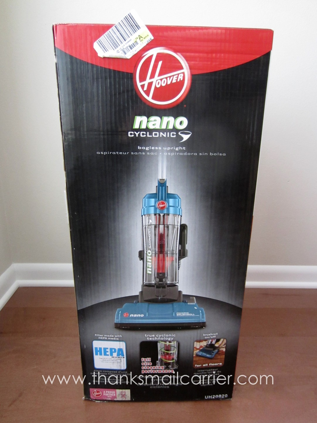 Thanks Mail Carrier Hoover Nano Cyclonic Compact