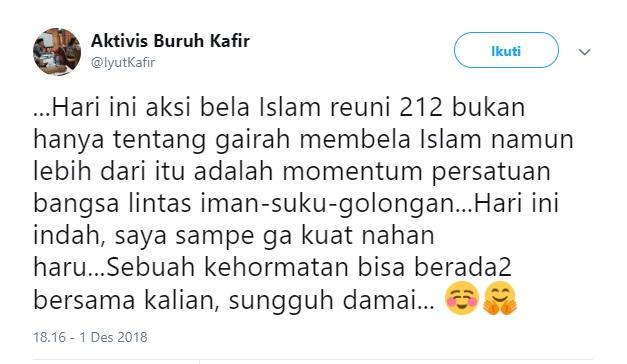 Kesaksian Non Muslim Soal Reuni 212 Ini Bikin Merinding