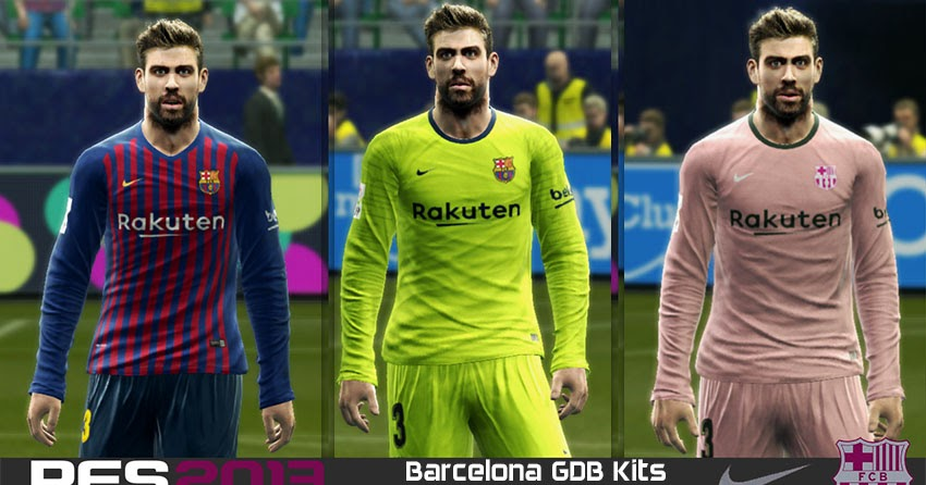 7508c8aeed8 PES 2013 FC Barcelona GDB Kits 2018/2019 - Micano4u | PES Patch | FIFA Patch  | Games