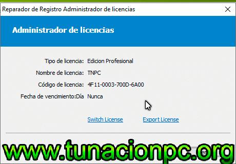 Registry Repair con licencia